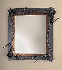 Lily Mirror Frame by Rachel Miller (Steel Mirror)