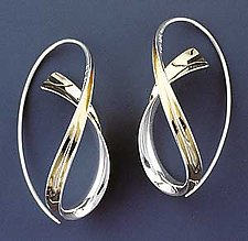 Cascade Earrings by Nancy Linkin (Gold & Silver Earrings)