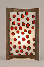 Red Dots by Joan Bazaz (Glass & Copper Table Lamp)