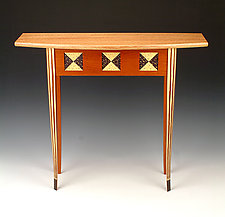 Small Bow Front Table by Douglas W. Jones and Kim Kulow-Jones (Wood Hall Table)
