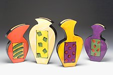 Four Seasons by Diana Crain (Ceramic Wall Sculpture)