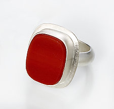 Lorelei Ring by Amy Faust (Silver & Glass Ring)