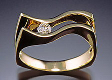 Double S Lady's Ring by Donald Pekarek (Gold & Diamond Ring)