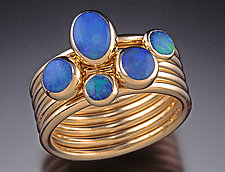 Stacking Lady's Ring by Donald Pekarek (Gold & Opal Ring)