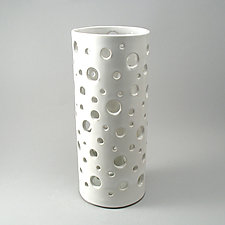Bubble Vase, White Glaze by Cheryl Wolff (Ceramic Vase)