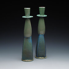 Tall Ceramic Candlesticks by Frank Saliani (Ceramic Candleholders)