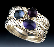 The Blues by Donald Pekarek (Silver & Stone Stacking Rings)