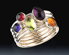 Spectrum Ring Set by Donald Pekarek (Silver & Stone Stacking Rings)