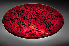 Ruby Glass Bowl by Varda Avnisan (Art Glass Bowl)