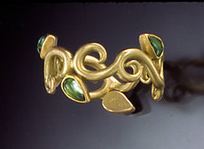 Flourish Ring by Natasha Wozniak (Gold & Stone Ring)