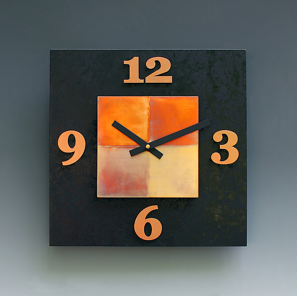 Black & Copper Kitchen Clock