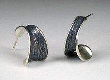 Short Horn Earrings by Dahlia Kanner (Silver Earrings)