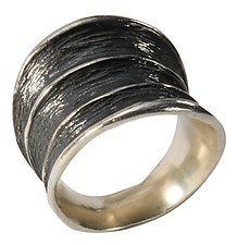 Three Horn Tapered Ring by Dahlia Kanner (Silver Ring)