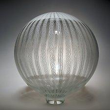 Cane Sphere by David Patchen (Art Glass Sculpture)