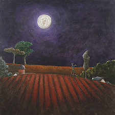 Midwest Under the Moon by Carrie Crane (Giclée Print)