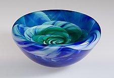 Rose Bowl by Mark Rosenbaum (Art Glass Vessel)