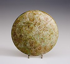White Ochre Moon Vase by David M Bowman and Reed C Bowman (Brass Vessel)