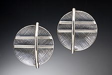 Grid Earrings by Theresa Carson (Silver Earrings)