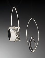 Half Open Square by Theresa Carson (Silver Earrings)