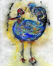 Le Coq Bleu #2 by Roberta Ann Busard (Giclée Print)