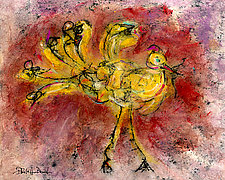 Yellow Bird #1 by Roberta Ann Busard (Giclée Print)