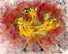 Yellow Bird #2 by Roberta Ann Busard (Giclée Print)