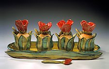 Tulip Garden by Peggy Crago (Ceramic Jam/Condiment Set)
