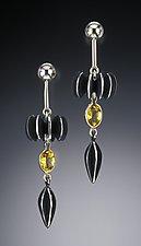 Trumpet Earrings by Samantha Freeman (Silver & Stone Earrings)