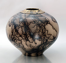 Burnished Horsehair 65 by Ron Mello (Ceramic Vessel)