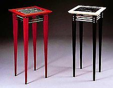 Pedestal Tables by David Kiernan (Wood & Granite Occasional Tables)