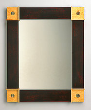 Pearl Dot Mirror by Peter F. Dellert (Wood Mirror)