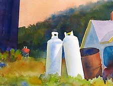 Fuel, Monhegan by Suzanne Siegel (Watercolor Painting)