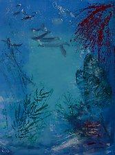 Underwater Passage No.1 by Sandra Humphries (Monotype Print)