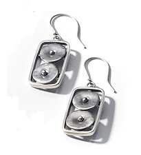 Geometrics in Motion Earrings by Virginia Stevens (Silver Earrings)