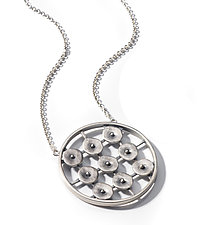 Circles in Motion Pendant by Virginia Stevens (Silver Necklace)