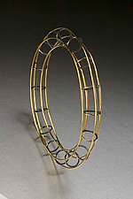 Open Tube Bracelet by Ben Neubauer (Silver & Gold Bracelet)