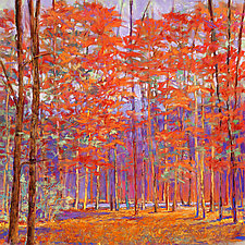 Cherry Red Forest by Ken Elliott (Giclée Print)