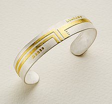 Garden Temple by Lisa Ceccorulli (Silver & Gold Cuff)