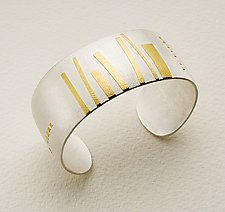 Garden Path II by Lisa Ceccorulli (Silver & Gold Cuff)
