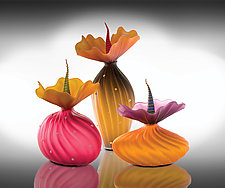 Autumn Trio by Bob Kliss and Laurie Kliss (Art Glass Sculpture)