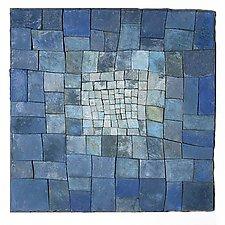 Blue by Elizabeth MacDonald (Ceramic Wall Sculpture)