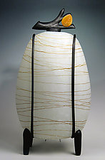 Kyoto Lantern: Leaf by Melanie Guernsey-Leppla (Glass Table Lamp)