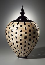 Lidded Urn by Joel Hunnicutt (Wood Sculpture)