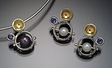 Bubble Set by Danielle Miller (Silver, Gold & Stone Earrings & Pendant)