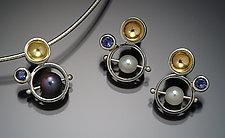Bubble Set by Danielle Miller (Silver, Gold & Stone Earrings & Pendant)