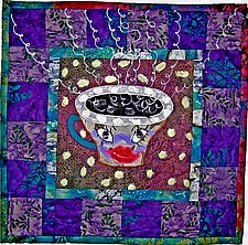Tea Anyone D by Therese May (Fiber Quilt)