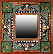 English Garden by Sandra Bryant and Carl Bryant (Mosaic Mirror)