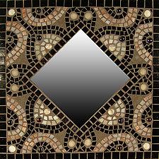 Lotus Flower by Sandra Bryant and Carl Bryant (Mosaic Mirror)