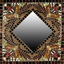 Falling Leaves by Sandra Bryant and Carl Bryant (Mosaic Mirror)