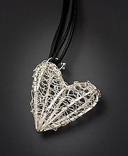 Silver Heart Pendant by Randi Chervitz (Silver or Gold & Leather Pendant)